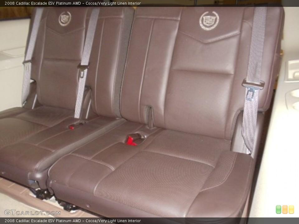 Cocoa/Very Light Linen Interior Photo for the 2008 Cadillac Escalade ESV Platinum AWD #59039245