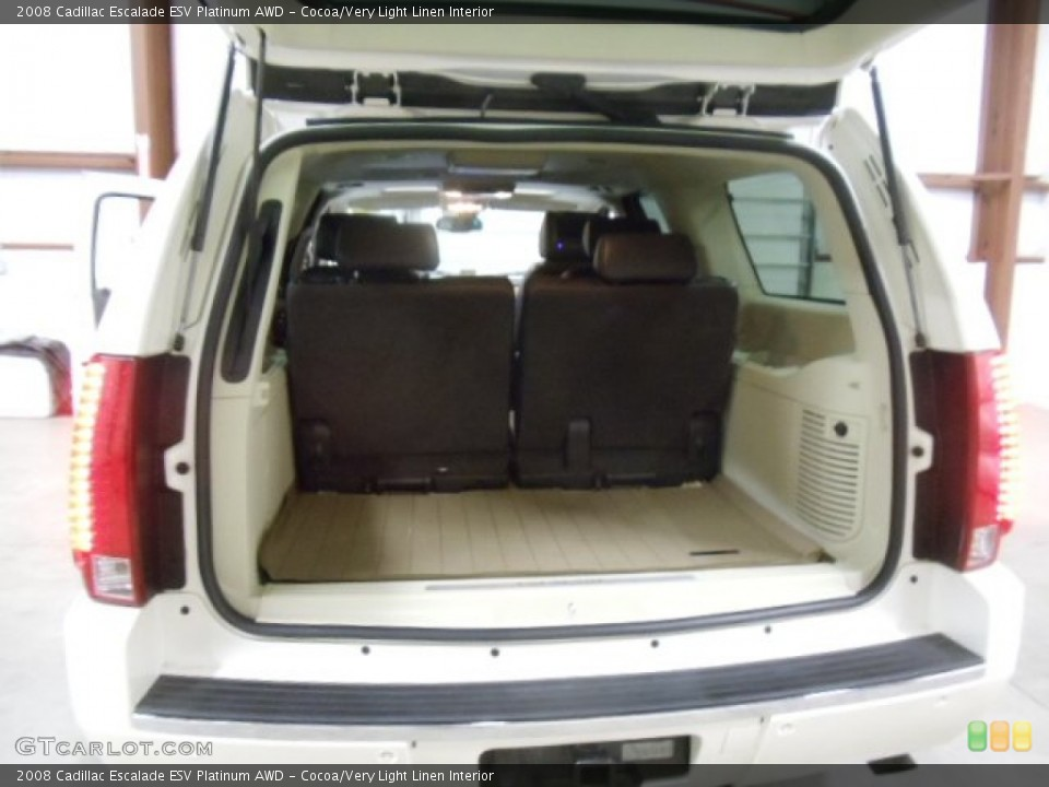 Cocoa/Very Light Linen Interior Trunk for the 2008 Cadillac Escalade ESV Platinum AWD #59039329