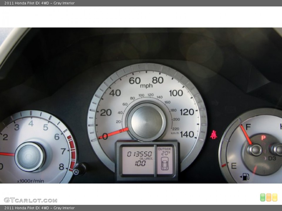 Gray Interior Gauges for the 2011 Honda Pilot EX 4WD #59229047