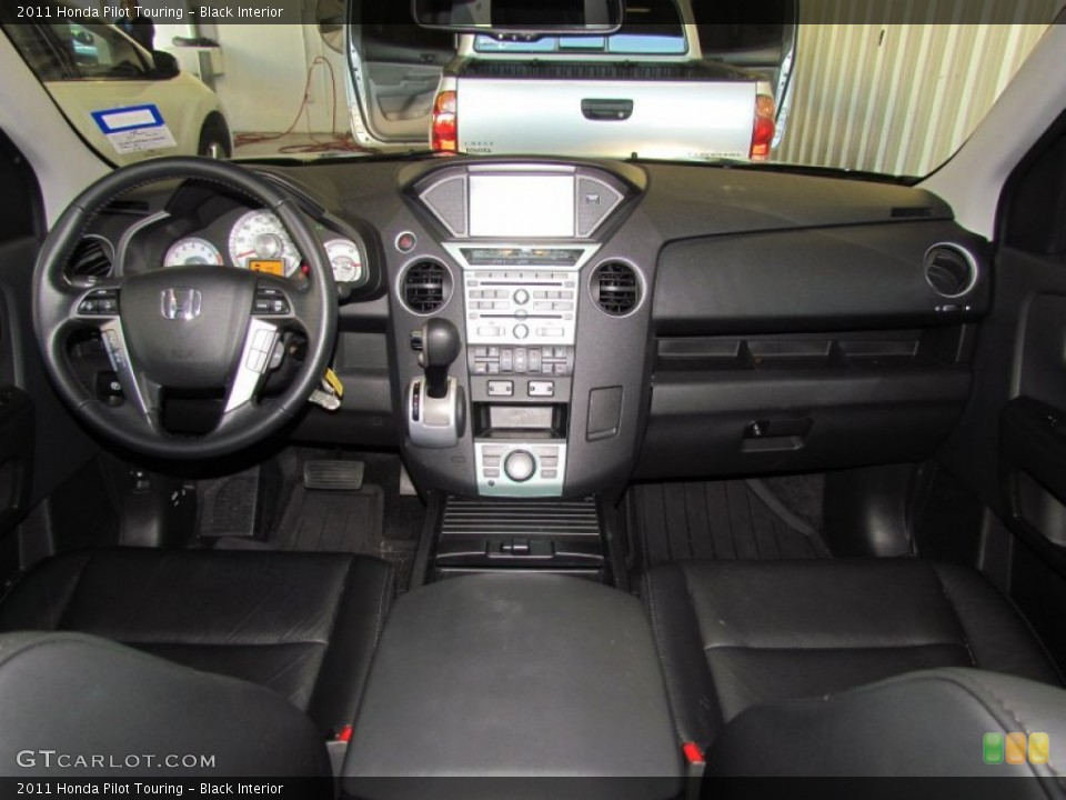 Black Interior Dashboard for the 2011 Honda Pilot Touring #59330531