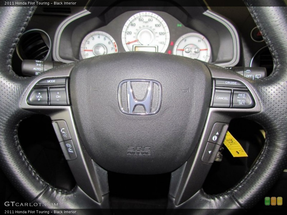 Black Interior Steering Wheel for the 2011 Honda Pilot Touring #59330552