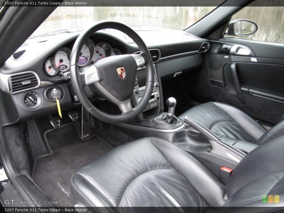 Black Interior Photo for the 2007 Porsche 911 Turbo Coupe #59429723