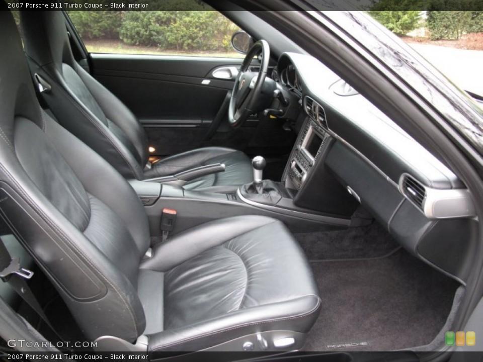 Black Interior Photo for the 2007 Porsche 911 Turbo Coupe #59429750