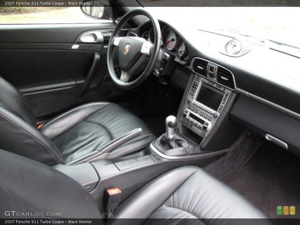Black Interior Photo for the 2007 Porsche 911 Turbo Coupe #59429759