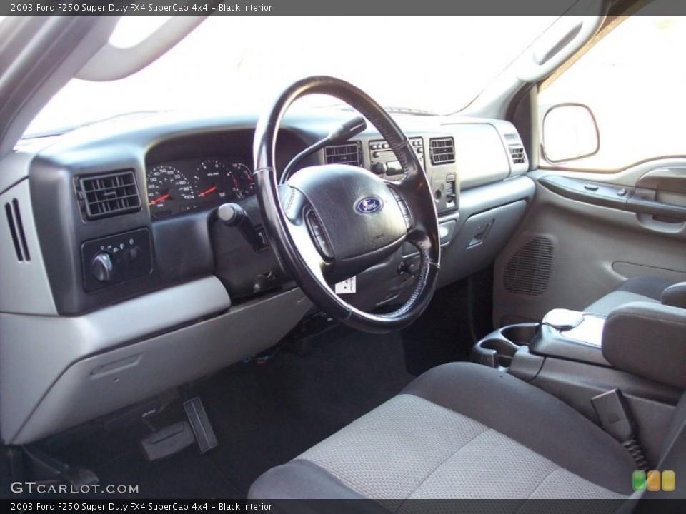 Black Interior Photo for the 2003 Ford F250 Super Duty FX4 SuperCab 4x4 #59507163