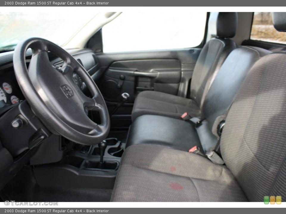 Black 2003 Dodge Ram 1500 Interiors