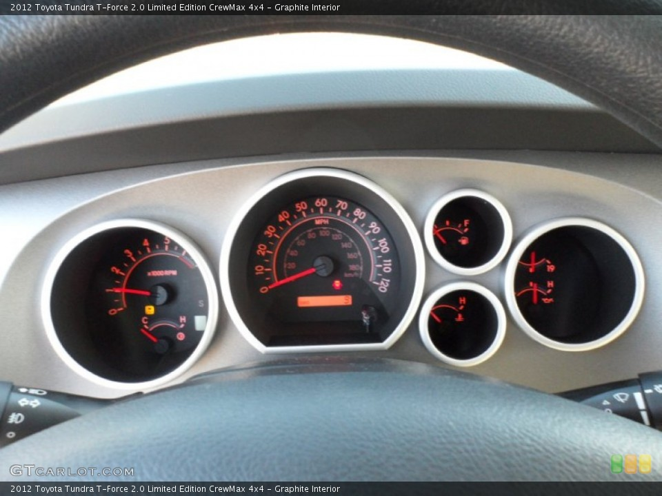 Graphite Interior Gauges for the 2012 Toyota Tundra T-Force 2.0 Limited Edition CrewMax 4x4 #59612646