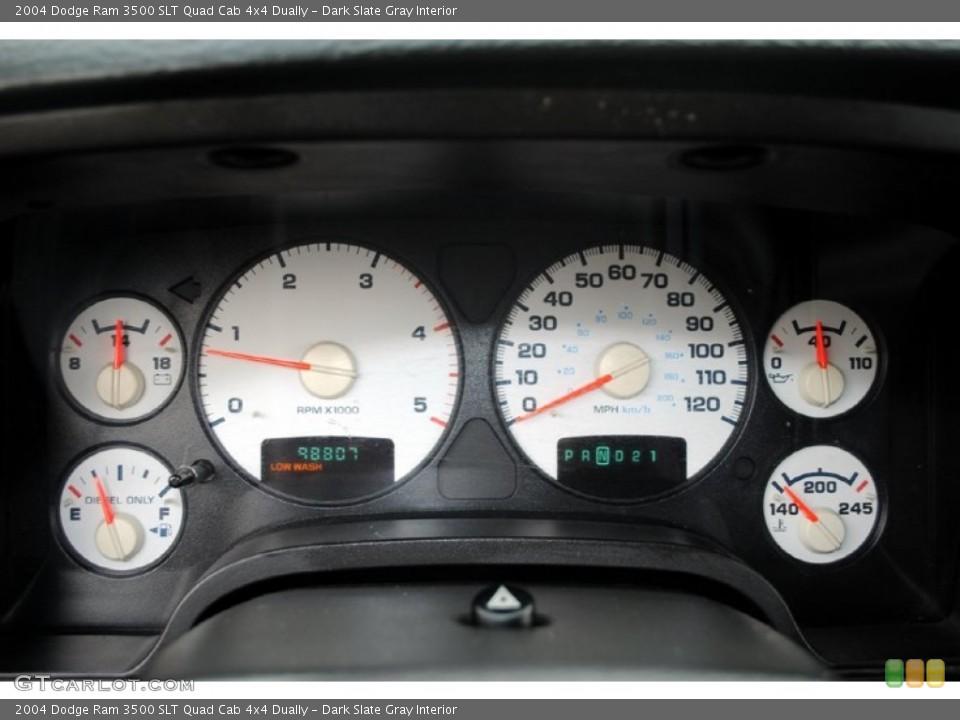 Dark Slate Gray Interior Gauges for the 2004 Dodge Ram 3500 SLT Quad Cab 4x4 Dually #59657110