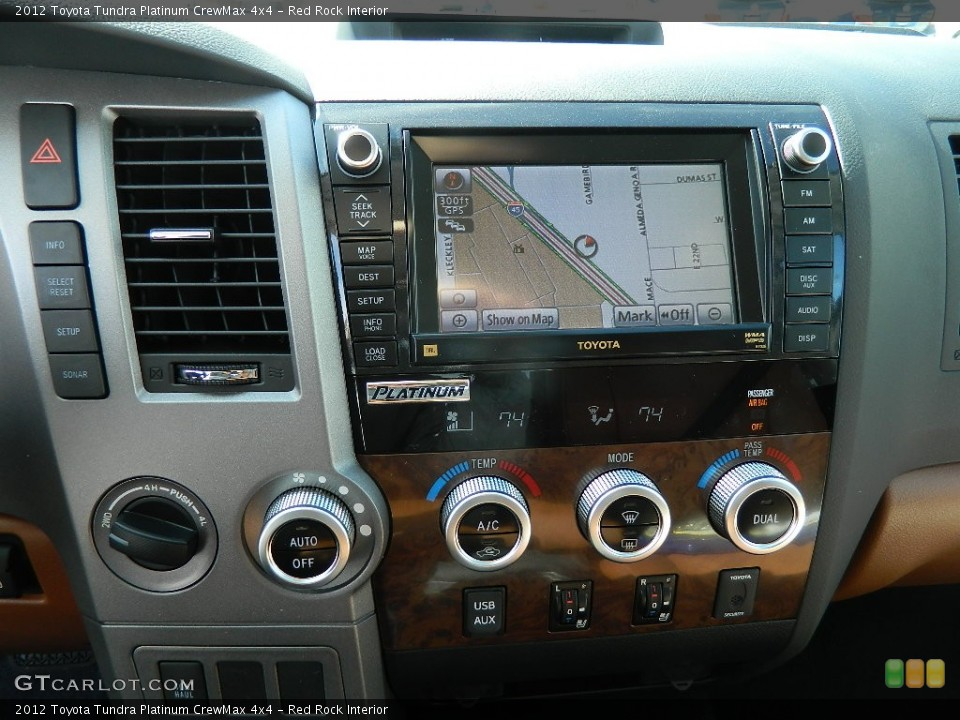 Red Rock Interior Navigation for the 2012 Toyota Tundra Platinum CrewMax 4x4 #59674690