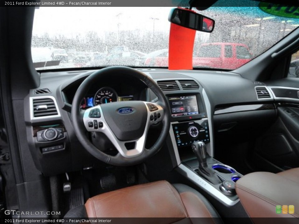 Pecan/Charcoal Interior Dashboard for the 2011 Ford Explorer Limited 4WD #59759543