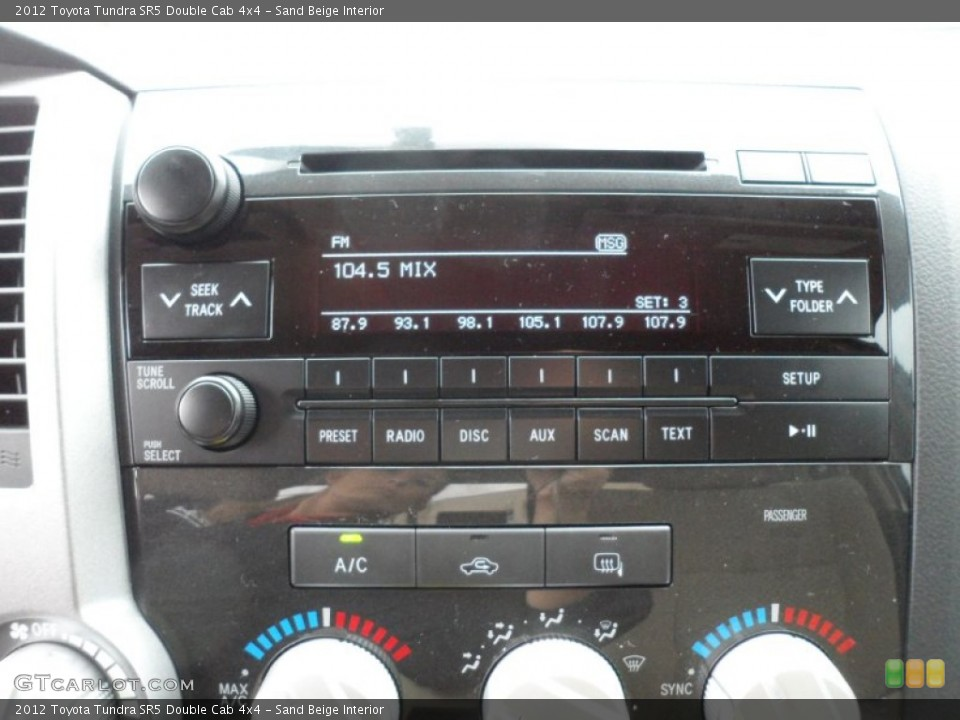 Sand Beige Interior Audio System for the 2012 Toyota Tundra SR5 Double Cab 4x4 #59771471