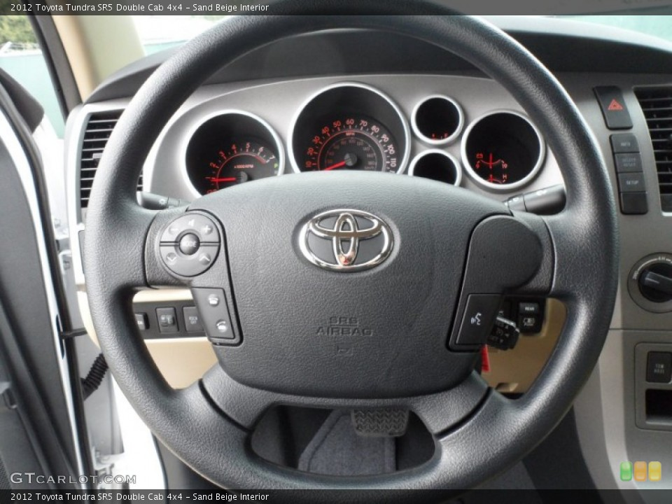 Sand Beige Interior Steering Wheel for the 2012 Toyota Tundra SR5 Double Cab 4x4 #59771503