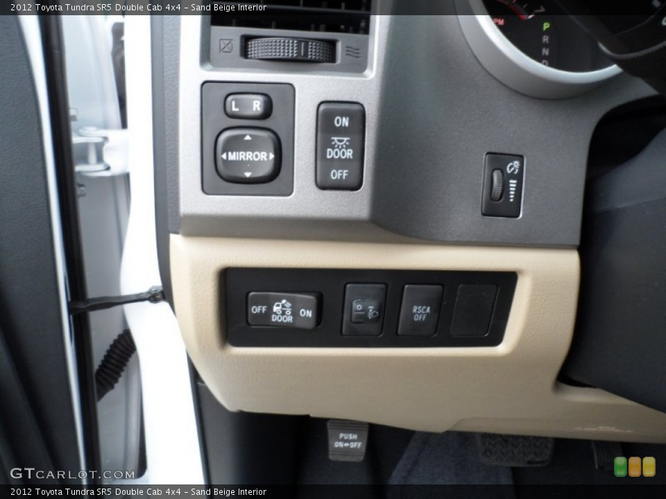 Sand Beige Interior Controls for the 2012 Toyota Tundra SR5 Double Cab 4x4 #59771522
