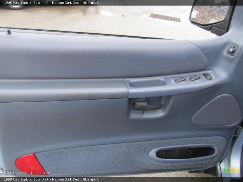 Medium Dark Denim Blue Interior Door Panel for the 1998 Ford Explorer Sport 4x4 #59775637