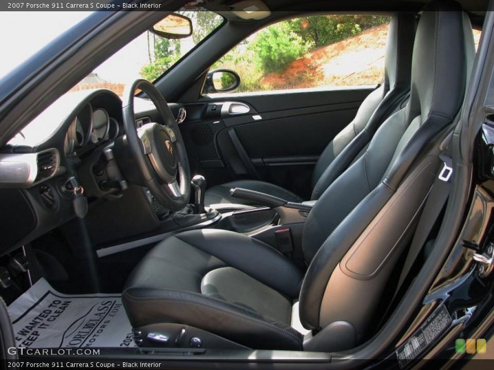 Black Interior Front Seat for the 2007 Porsche 911 Carrera S Coupe #59782376