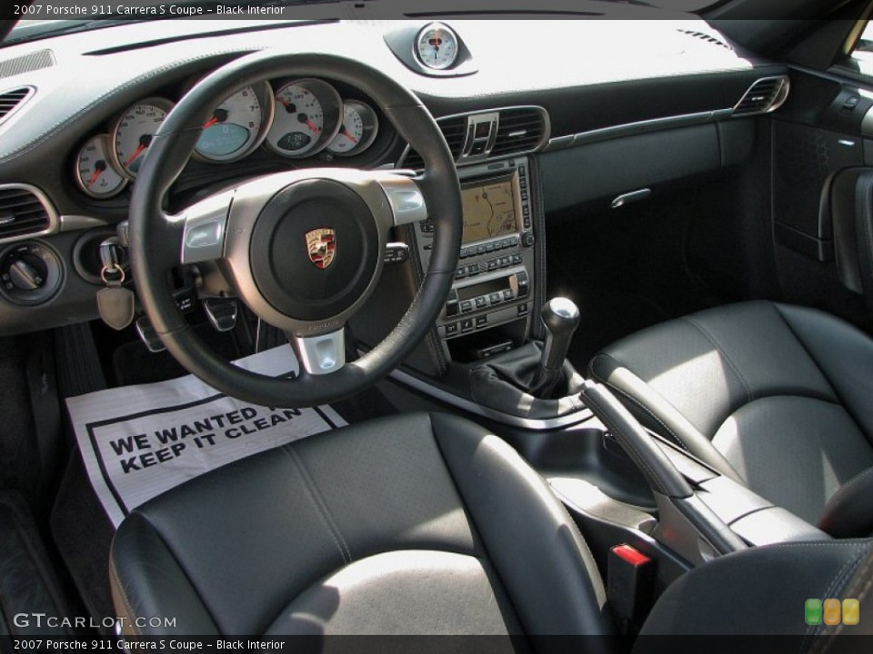 Black Interior Photo for the 2007 Porsche 911 Carrera S Coupe #59782391