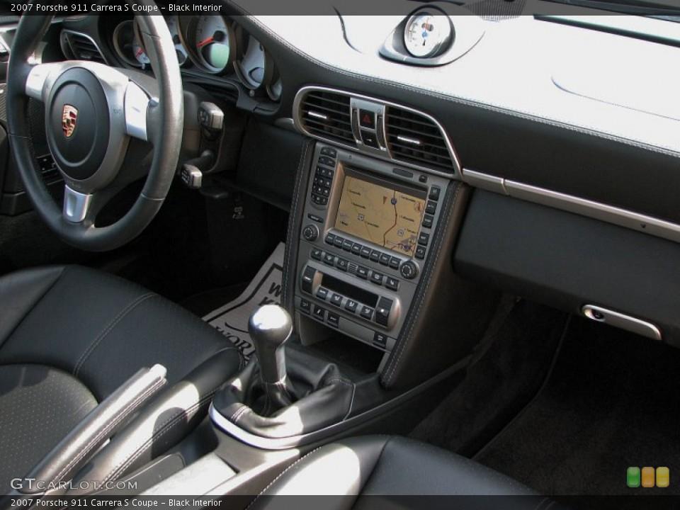 Black Interior Dashboard for the 2007 Porsche 911 Carrera S Coupe #59782427
