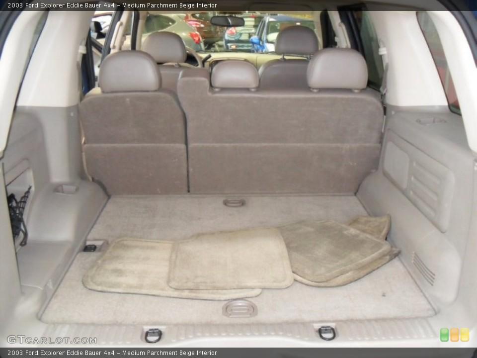 Medium Parchment Beige Interior Trunk for the 2003 Ford Explorer Eddie Bauer 4x4 #59788307