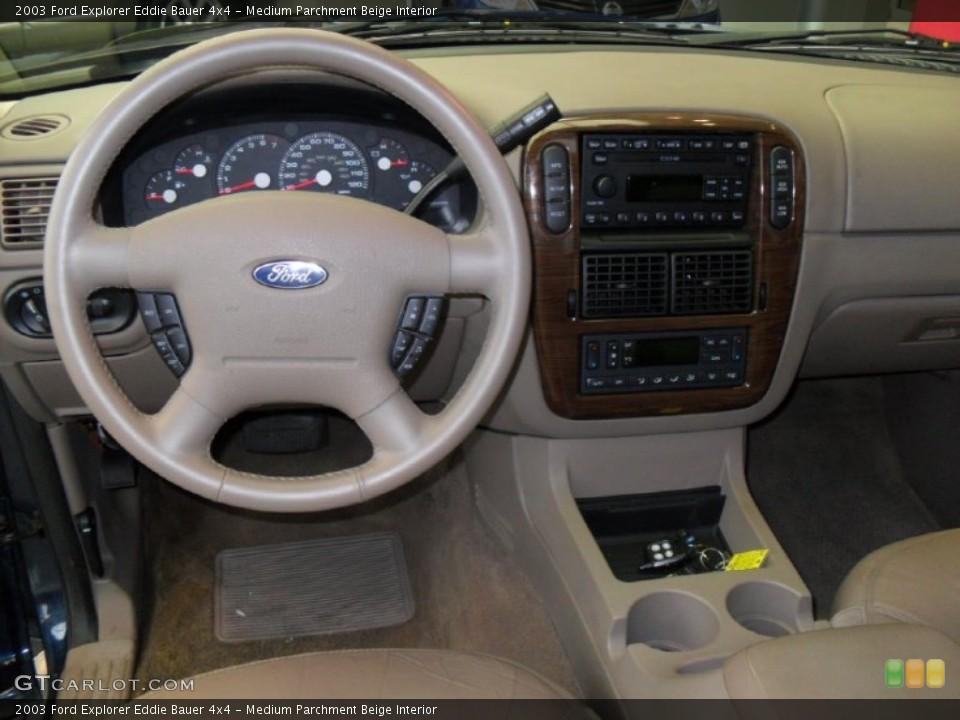 Medium Parchment Beige Interior Dashboard for the 2003 Ford Explorer Eddie Bauer 4x4 #59788352