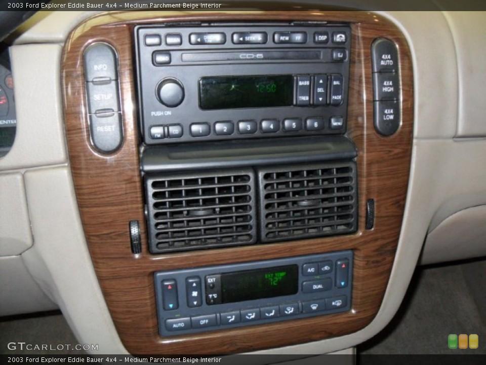 Medium Parchment Beige Interior Controls for the 2003 Ford Explorer Eddie Bauer 4x4 #59788371