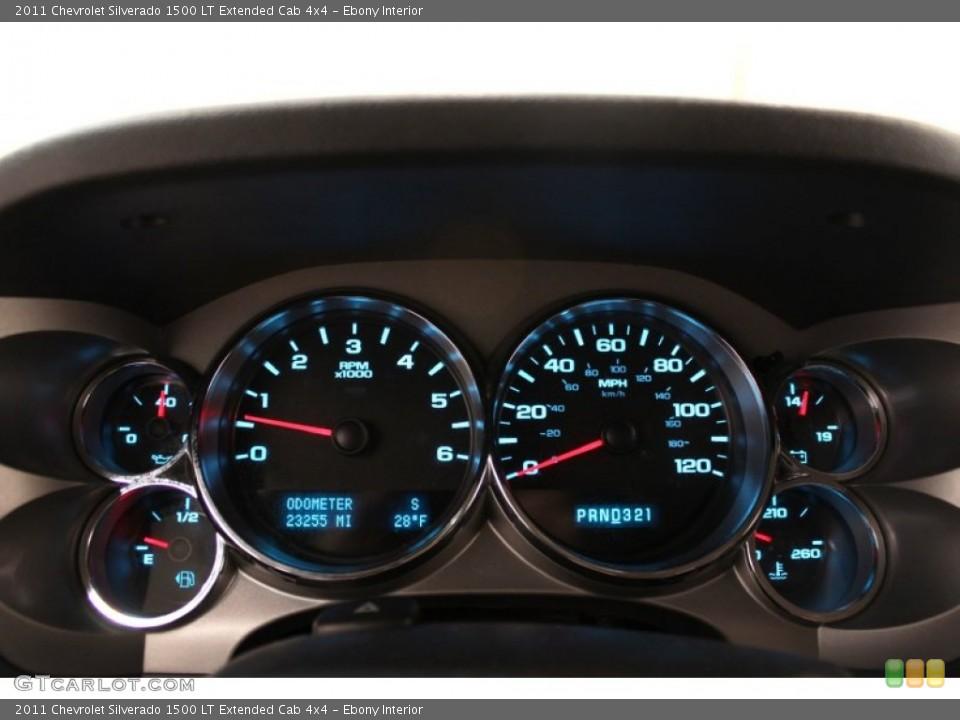 Ebony Interior Gauges for the 2011 Chevrolet Silverado 1500 LT Extended Cab 4x4 #59960785
