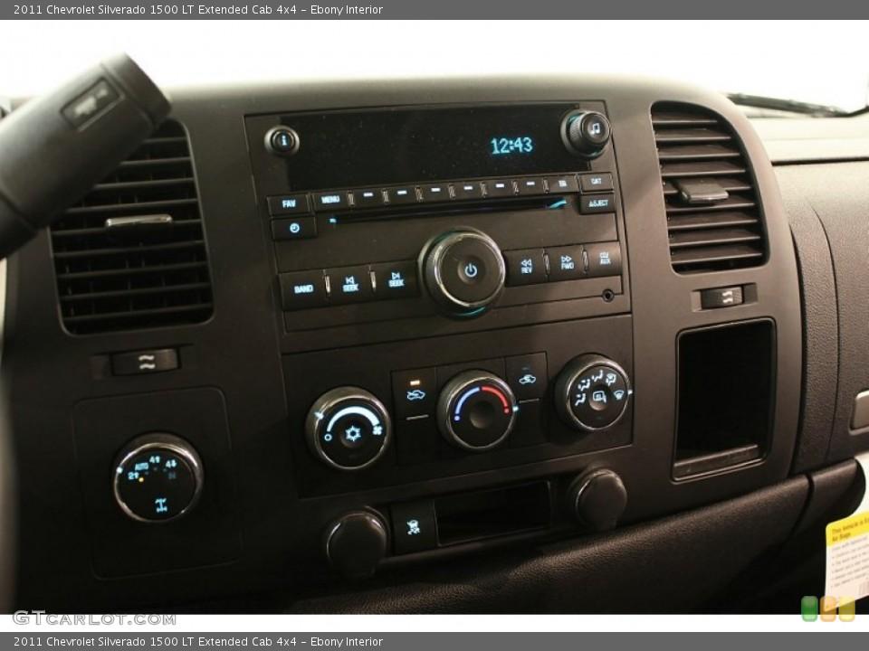 Ebony Interior Controls for the 2011 Chevrolet Silverado 1500 LT Extended Cab 4x4 #59960793