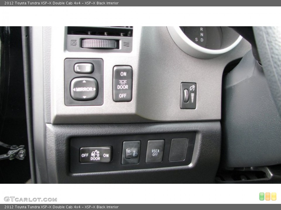 XSP-X Black Interior Controls for the 2012 Toyota Tundra XSP-X Double Cab 4x4 #59976396