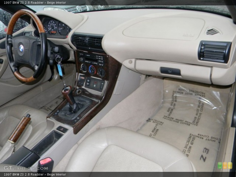 Beige Interior Dashboard for the 1997 BMW Z3 2.8 Roadster #59982389