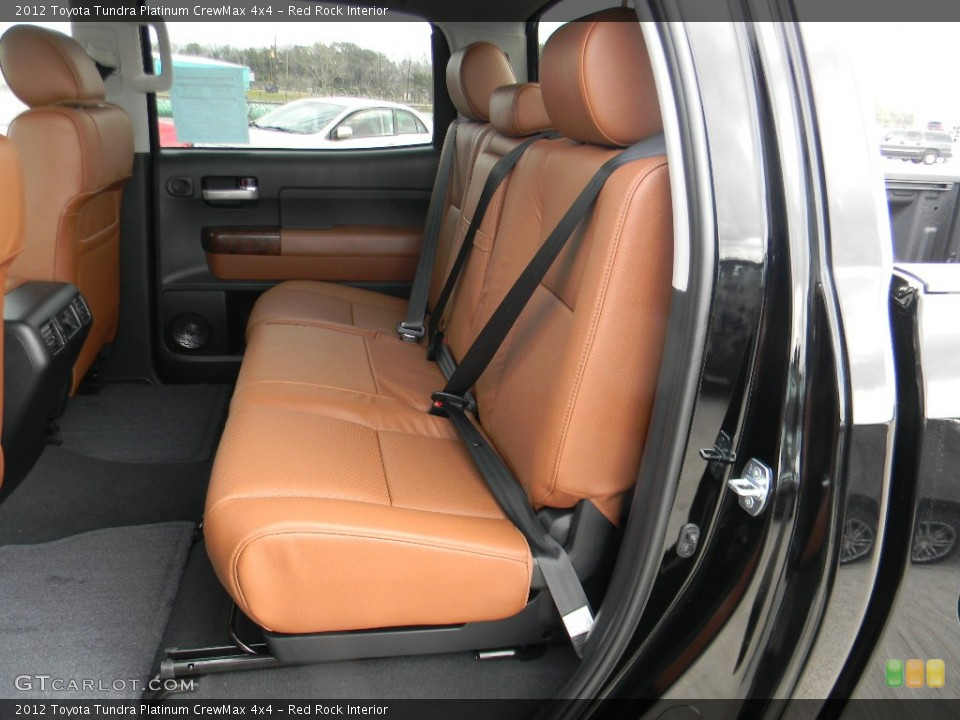 Red Rock Interior Rear Seat for the 2012 Toyota Tundra Platinum CrewMax 4x4 #59992912