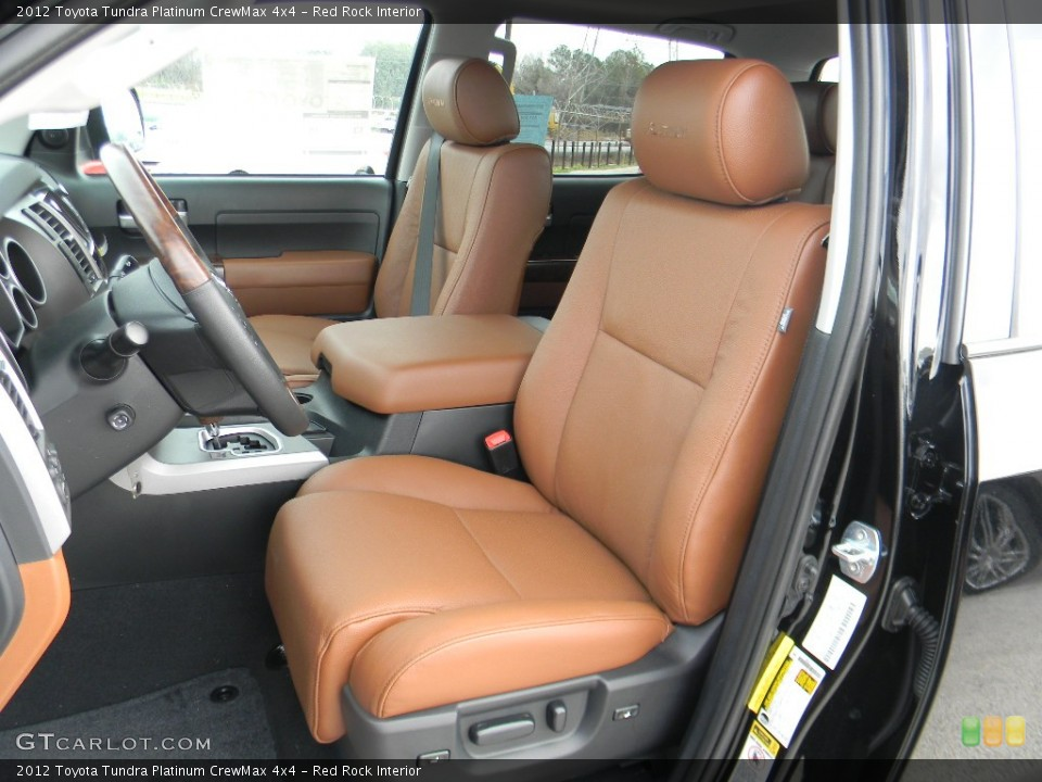 Red Rock Interior Front Seat for the 2012 Toyota Tundra Platinum CrewMax 4x4 #59992922