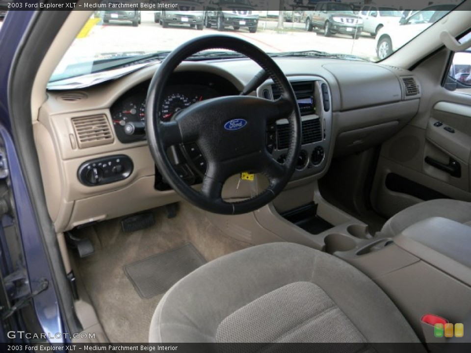 Medium Parchment Beige Interior Dashboard for the 2003 Ford Explorer XLT #60165408