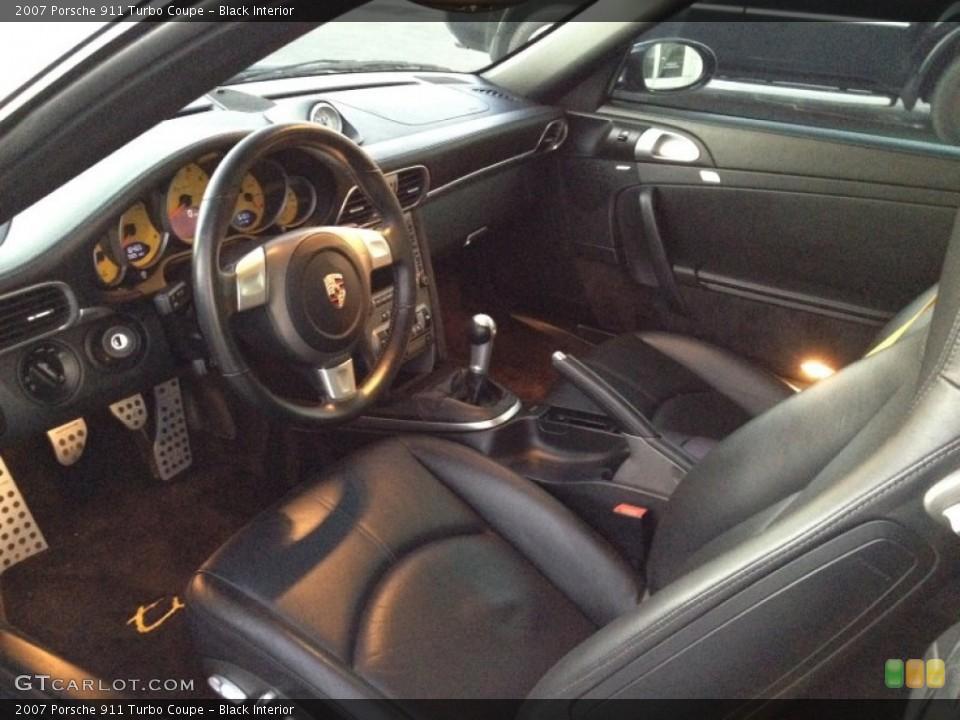 Black Interior Prime Interior for the 2007 Porsche 911 Turbo Coupe #60176793