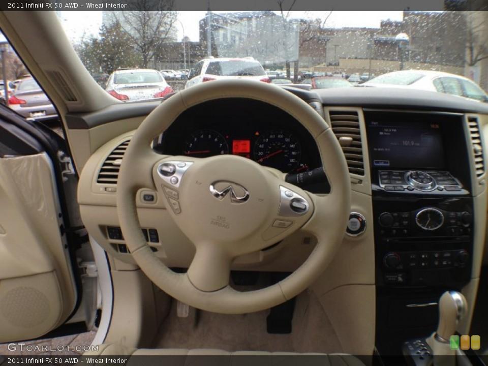 Wheat Interior Steering Wheel for the 2011 Infiniti FX 50 AWD #60203452