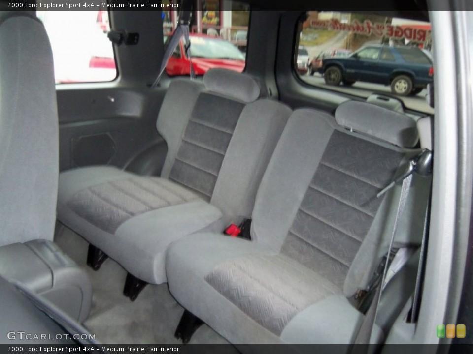 Medium Prairie Tan Interior Rear Seat for the 2000 Ford Explorer Sport 4x4 #60236508