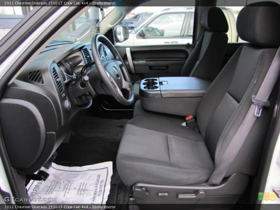 Ebony Interior Photo for the 2011 Chevrolet Silverado 1500 LT Crew Cab 4x4 #60367509