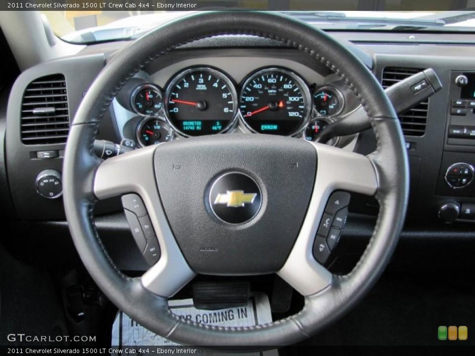Ebony Interior Steering Wheel for the 2011 Chevrolet Silverado 1500 LT Crew Cab 4x4 #60367536