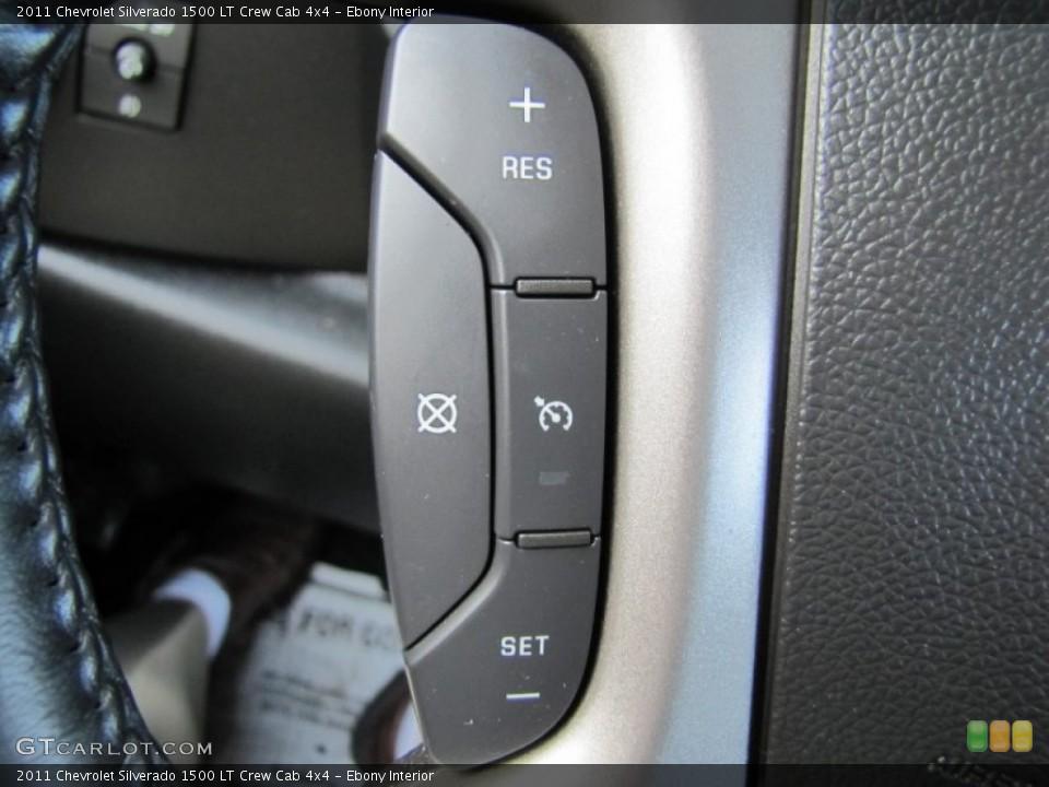 Ebony Interior Controls for the 2011 Chevrolet Silverado 1500 LT Crew Cab 4x4 #60367551