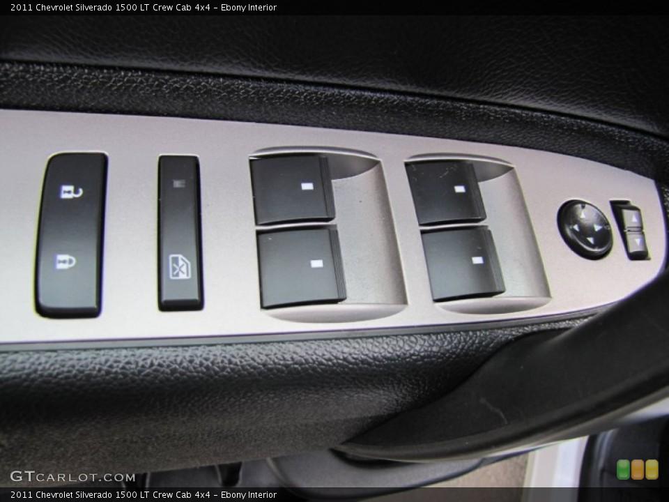 Ebony Interior Controls for the 2011 Chevrolet Silverado 1500 LT Crew Cab 4x4 #60367578