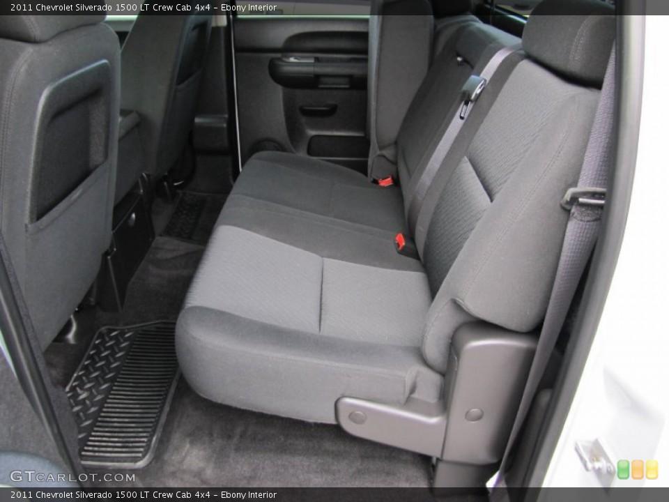 Ebony Interior Photo for the 2011 Chevrolet Silverado 1500 LT Crew Cab 4x4 #60367703