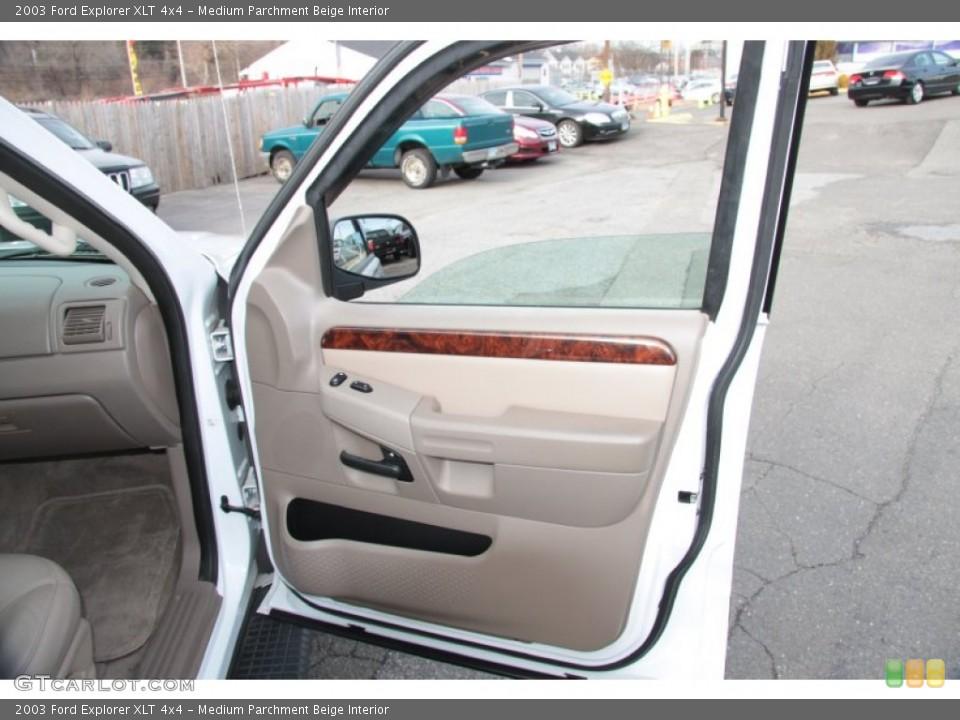 Medium Parchment Beige Interior Door Panel for the 2003 Ford Explorer XLT 4x4 #60370587