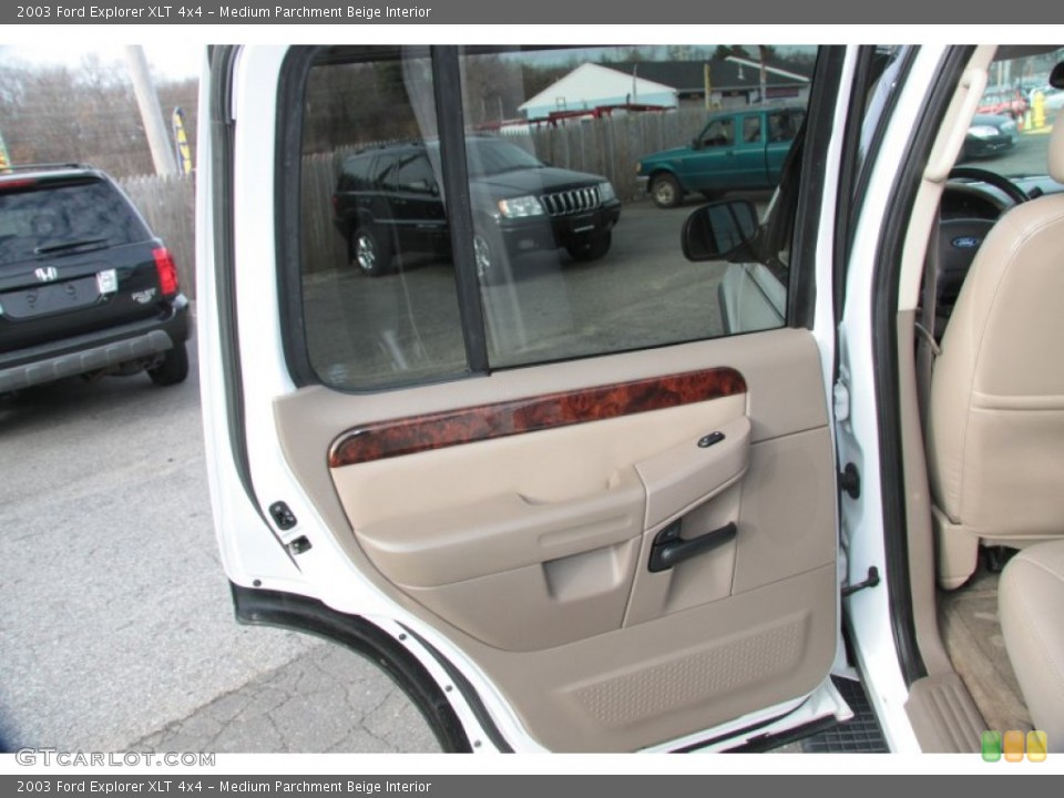 Medium Parchment Beige Interior Door Panel for the 2003 Ford Explorer XLT 4x4 #60370607
