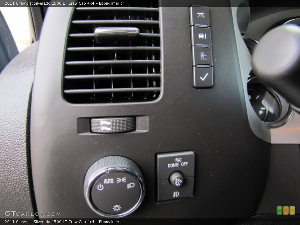 Ebony Interior Controls for the 2011 Chevrolet Silverado 1500 LT Crew Cab 4x4 #60443627