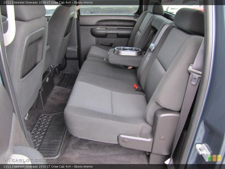Ebony Interior Rear Seat for the 2011 Chevrolet Silverado 1500 LT Crew Cab 4x4 #60443663