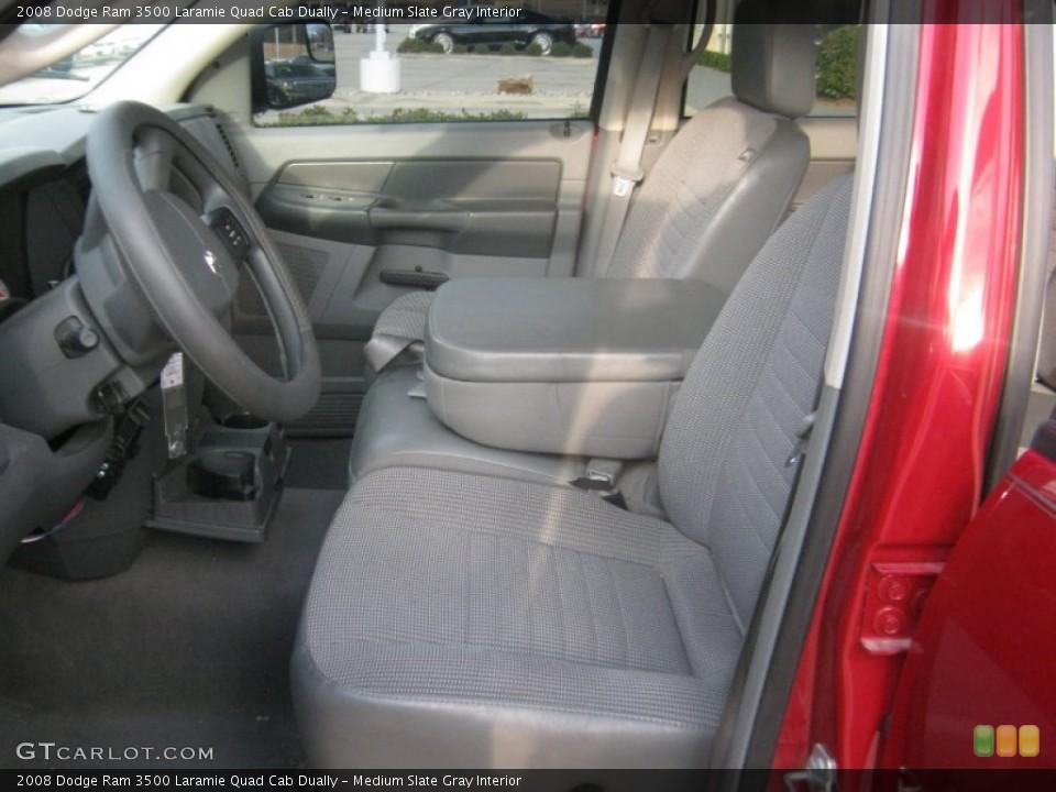 Medium Slate Gray Interior Front Seat for the 2008 Dodge Ram 3500 Laramie Quad Cab Dually #60512541