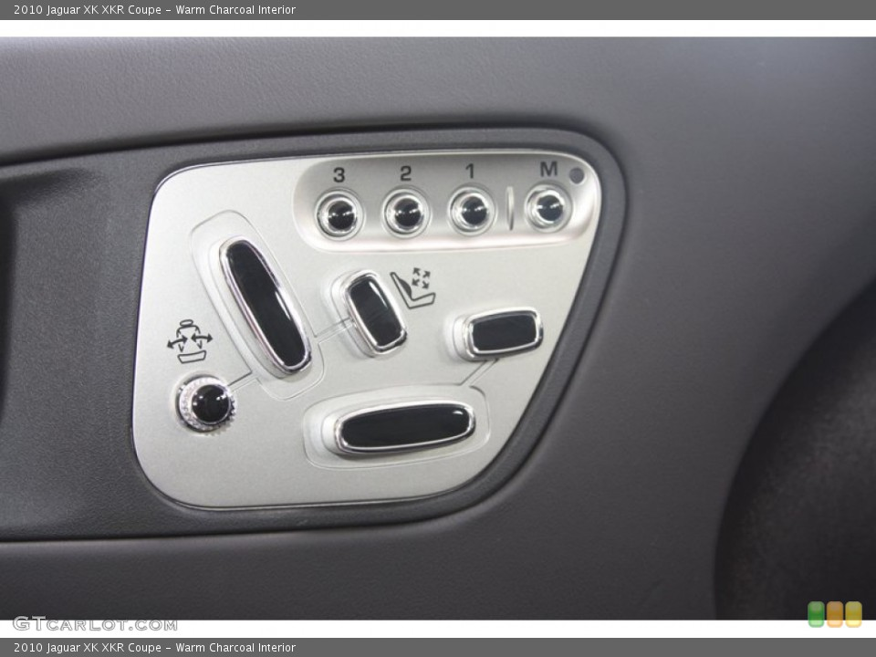 Warm Charcoal Interior Controls for the 2010 Jaguar XK XKR Coupe #60530059