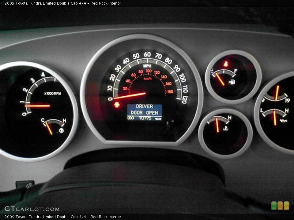 Red Rock Interior Gauges for the 2009 Toyota Tundra Limited Double Cab 4x4 #60593394