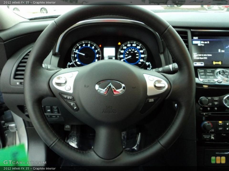 Graphite Interior Steering Wheel for the 2012 Infiniti FX 35 #60642928
