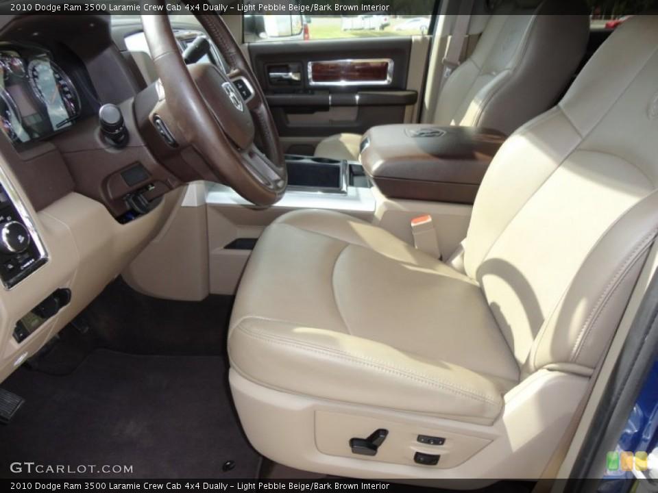 Light Pebble Beige/Bark Brown Interior Photo for the 2010 Dodge Ram 3500 Laramie Crew Cab 4x4 Dually #60690659