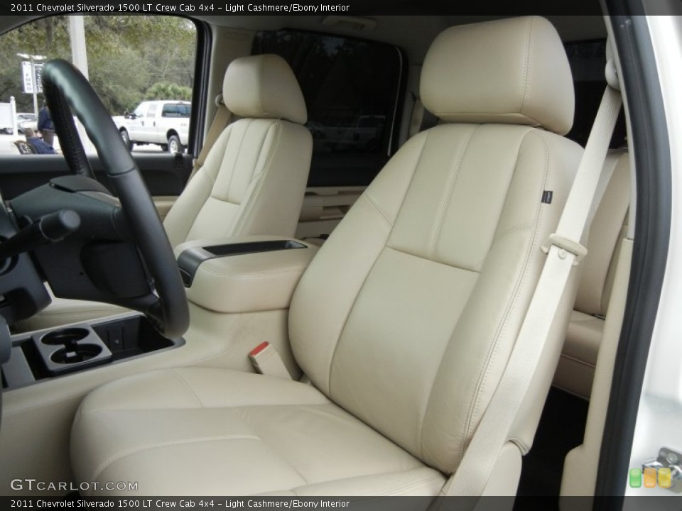 Light Cashmere/Ebony Interior Front Seat for the 2011 Chevrolet Silverado 1500 LT Crew Cab 4x4 #60812589