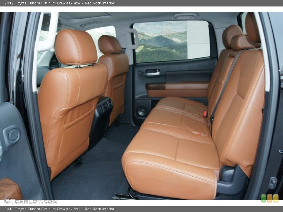 Red Rock Interior Rear Seat for the 2012 Toyota Tundra Platinum CrewMax 4x4 #60862281